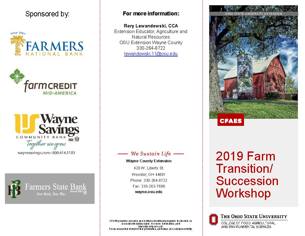 Farm Transition Flyer Page 1
