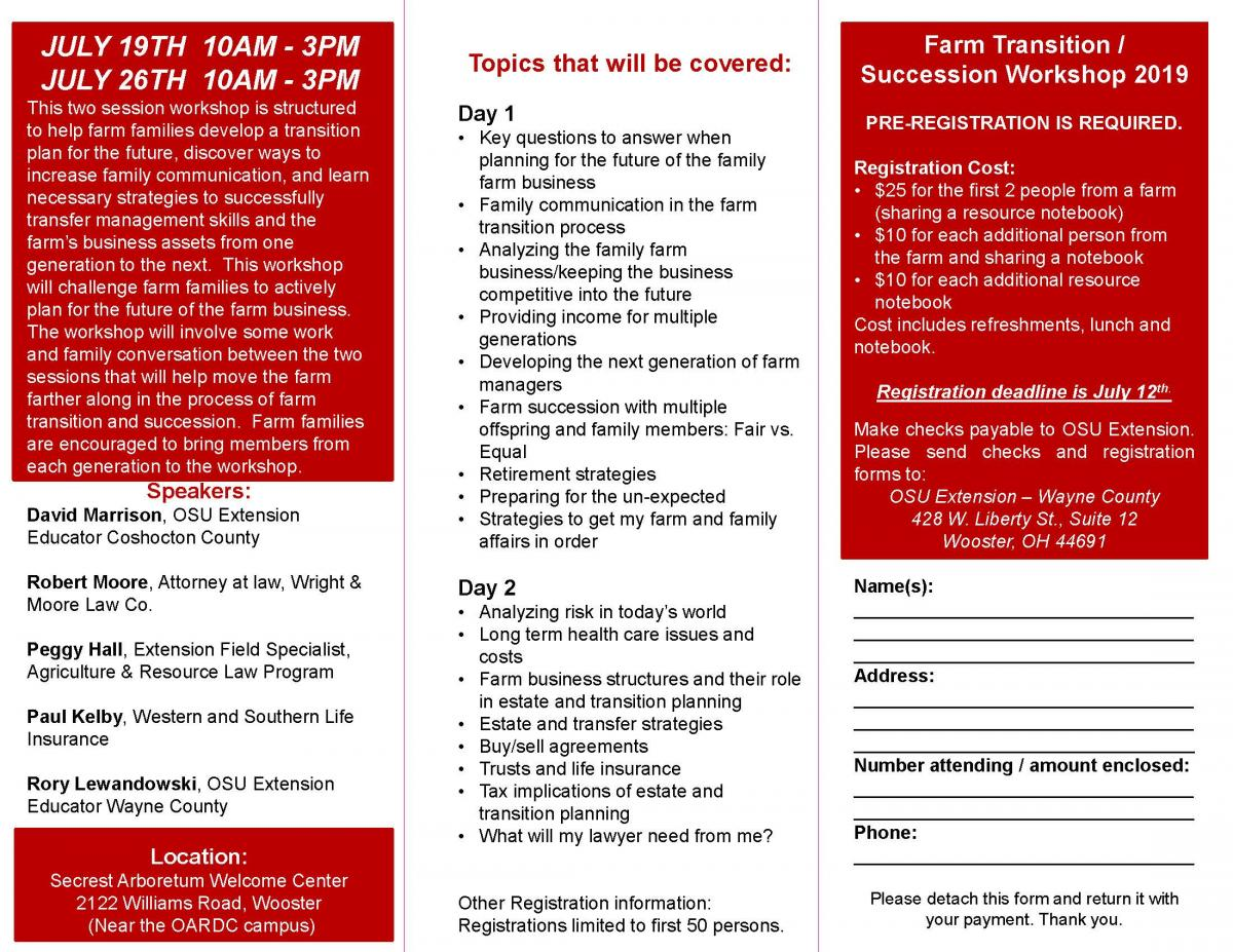 Farm Transition Flyer page 2